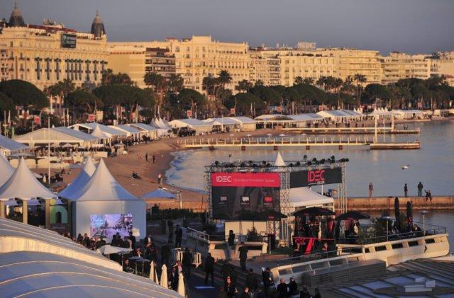 MIPIM vue depuis la Croisette à Cannes.