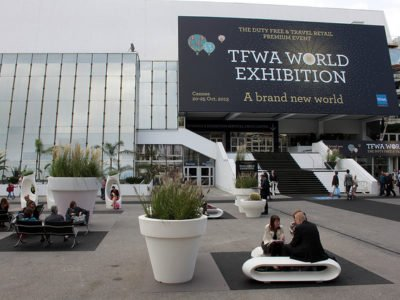 Entrée de la Tax Free World Exhibition 2017 à Cannes.